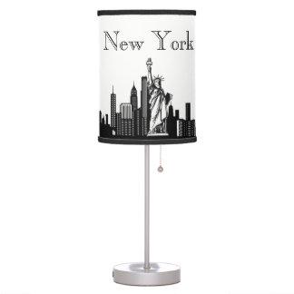 New York City Skyline Silhouette Table Lamp
