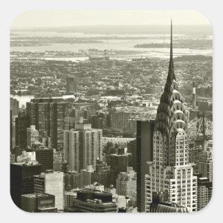 New York City Skyline Square Stickers