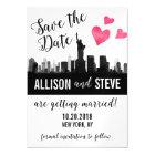 New York City Skyline Wedding Save the Date Magnet