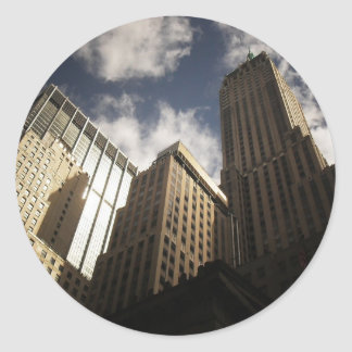 New York City Skyscrapers Against the Clouds Sticker