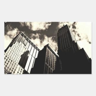 New York City Skyscrapers Rectangular Sticker