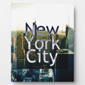 New York City Souvenir Plaque
