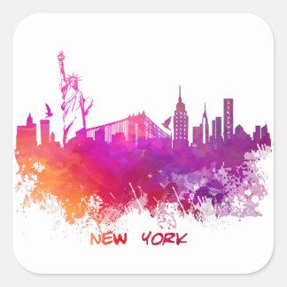 New York City Square Sticker