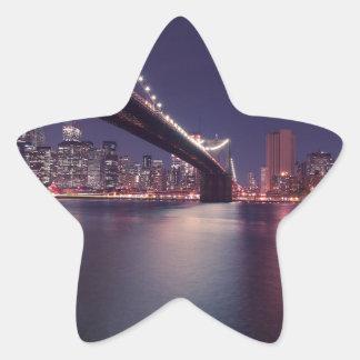 new-york-city star sticker