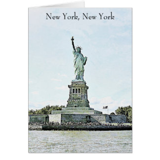 New York City - Statue of Liberty Card
