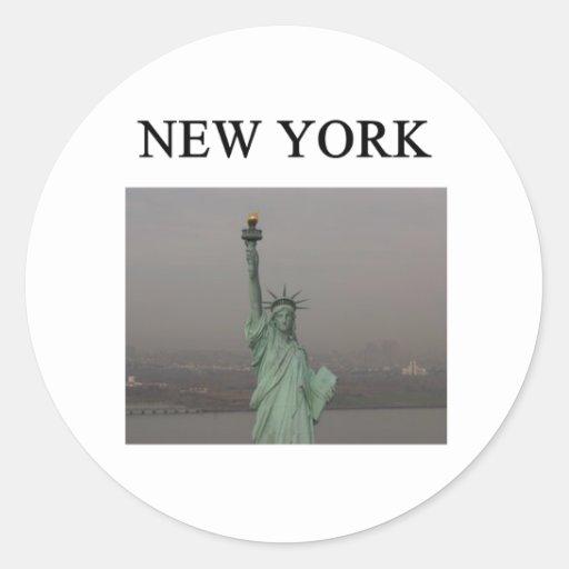 NEW YORK city statue of liberty Sticker