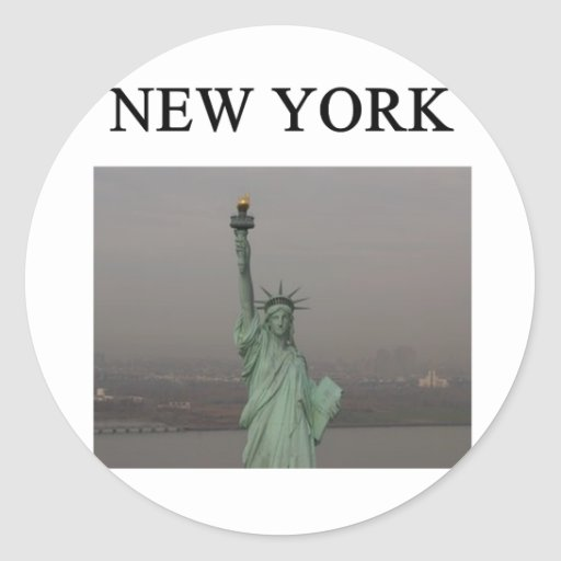 NEW YORK city statue of liberty Round Sticker