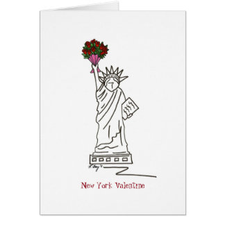 New York City Statue of Liberty Valentine's Day Card