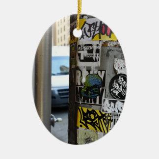 New York City Street Art Urban Photography NYC Ceramic Ornament