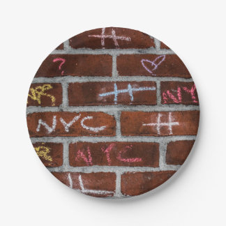 New York City Street Graffiti Photo 7 Inch Paper Plate
