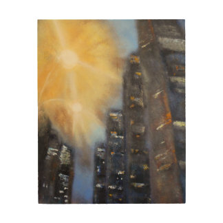 New York City Street Lights Wood Wall Art
