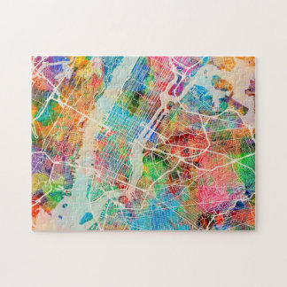 New York City Street Map Jigsaw Puzzle