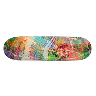New York City Street Map Skateboards