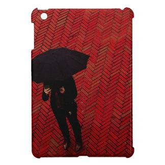 New York City Street Scene, Rainy Day Umbrella iPad Mini Cases
