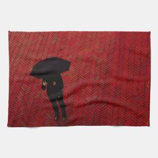 New York City Street Scene, Rainy Day Umbrella Towel