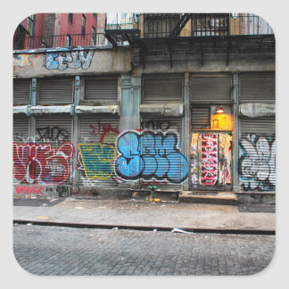 New York City Street Urban Photo Square Sticker