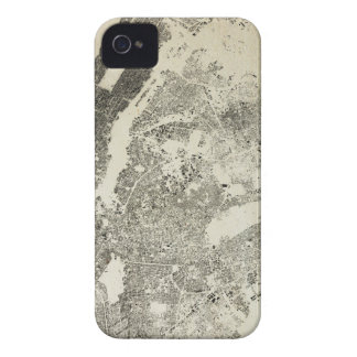 New York City Streets and Buildings Vintage Map iPhone 4 Case-Mate Cases