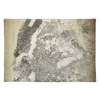 New York City Streets and Buildings Vintage Map Placemat