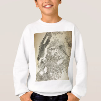 New York City Streets and Buildings Vintage Map Sweatshirt