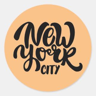 New York City Style Round Sticker