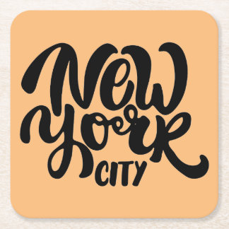 New York City Style Square Paper Coaster