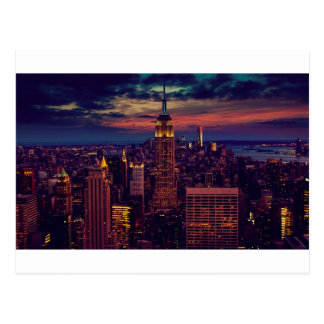 New York City Sundown Skyline Postcard