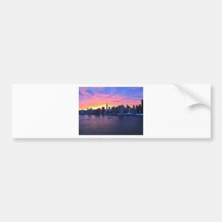 New York City Sunset Bumper Sticker
