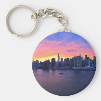 New York City Sunset Keychain