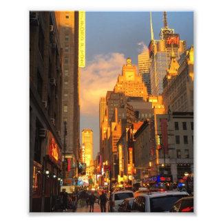 New York City Sunset Midtown Theatre District NYC Photo Print