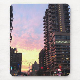 New York City Sunset Upper West Side Buildings NYC Mouse Pad