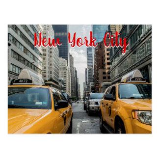 New York City Taxi Cabs City Life Postcard