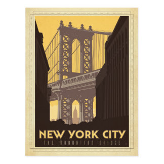 New York City | The Manhattan Bridge Postcard