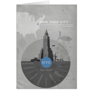 New York City theme Note Card