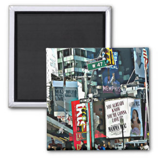New York City Times Square Photo Magnet