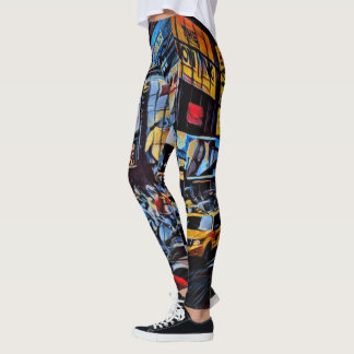 New York City Times Square Print Leggings