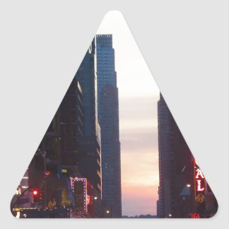 new york city times square triangle stickers