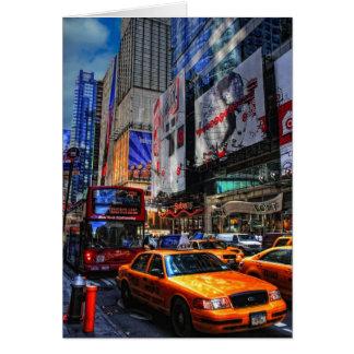 New York City Traffic-Blank Card