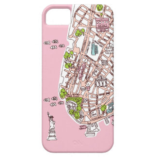 New York City travel map iphone case