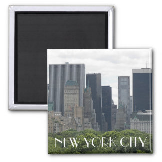 New York City Travel Photo Square Magnet