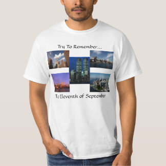 New York City Twin Towers WTC Views In Memoriam T-Shirt