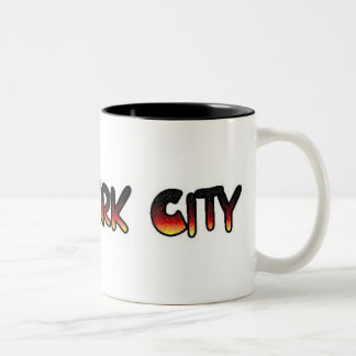 new york city Two-Tone coffee mug