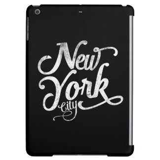 New York City typography Cover For iPad Air