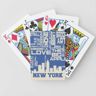 New York City Typography Poster Bicycle Playing Cards