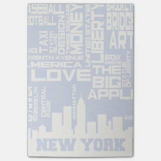 New York City Typography Poster Post-it Notes