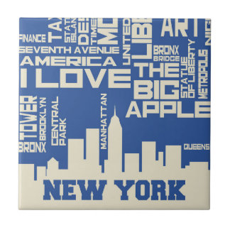New York City Typography Poster Tiles