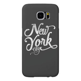 New York City typography Samsung Galaxy S6 Cases