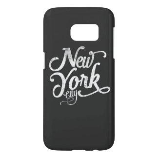 New York City typography Samsung Galaxy S7 Case