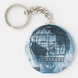 New York City Unisphere Globe Basic Round Button Keychain