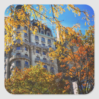New York City Upper West Side Apartment Building Square Sticker