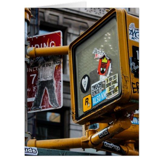 New York City Urban Street Photo Card